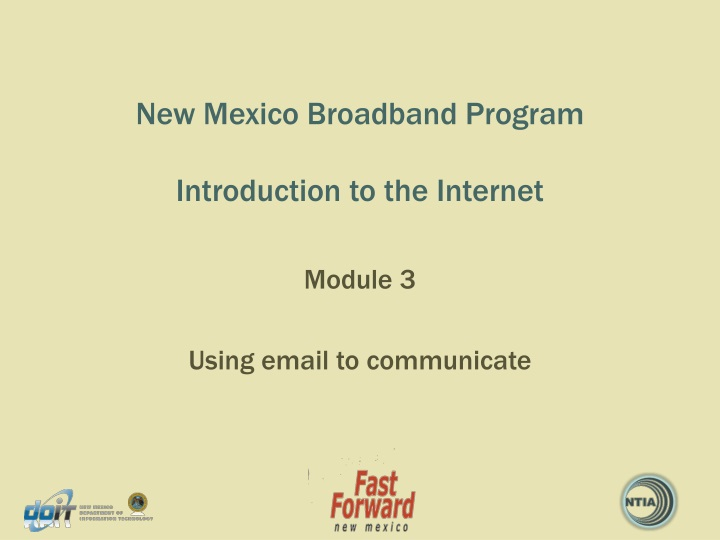 new mexico broadband program introduction to the internet n.