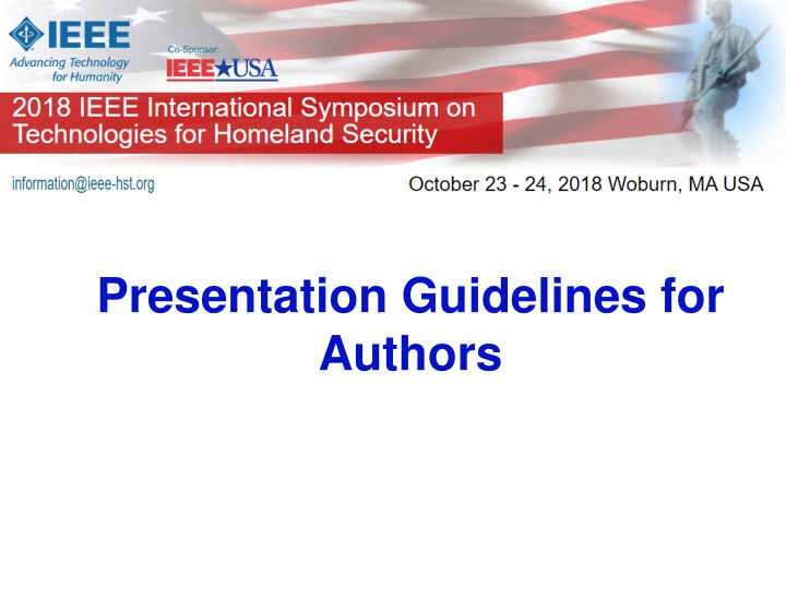 presentation guidelines for authors n.