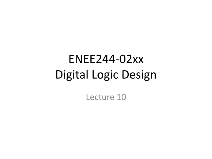 enee244 02xx digital logic design n.