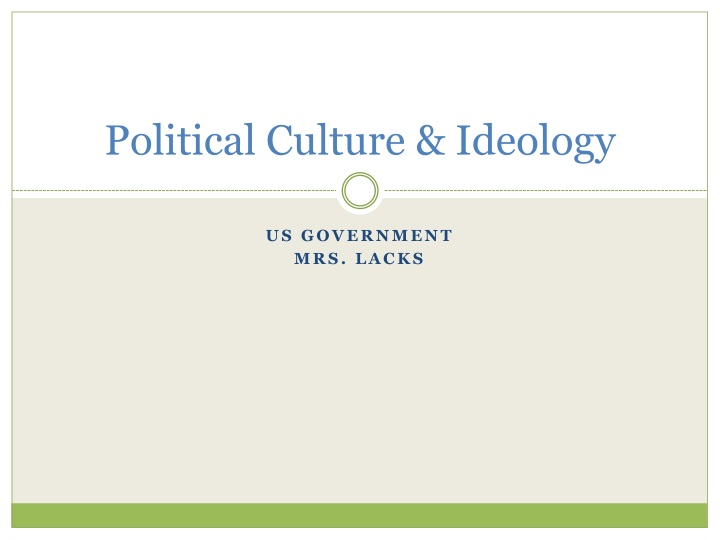 political culture ideology n.
