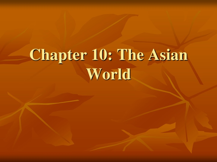 chapter 10 the asian world n.