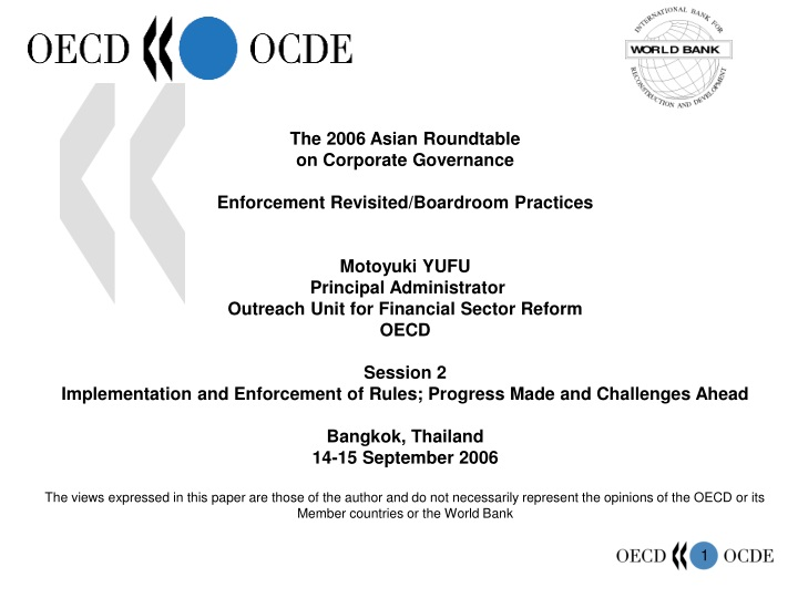 the 2006 asian roundtable on corporate governance n.
