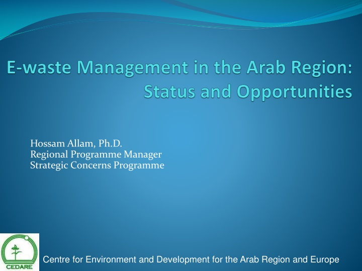 e waste management in the arab region status and opportunities n.
