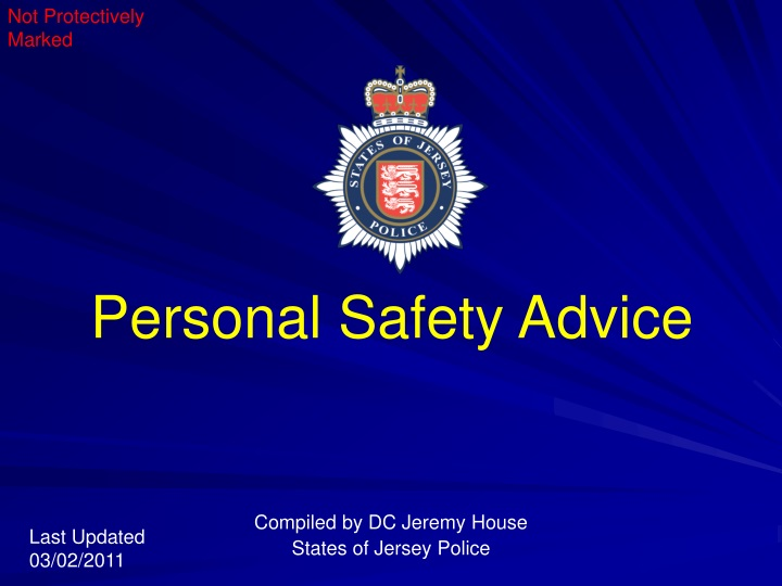 personal safety advice n.
