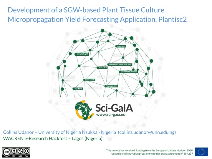 development of a sgw based plant tissue culture n.