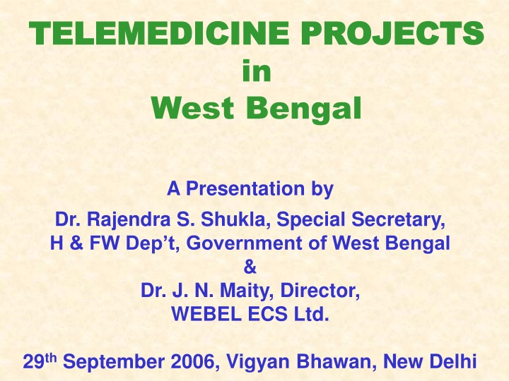 telemedicine projects in west bengal n.