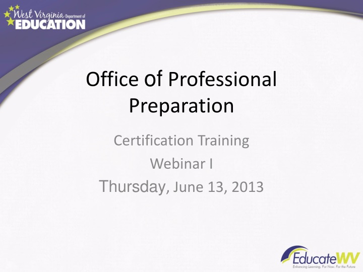 office of professional preparation n.