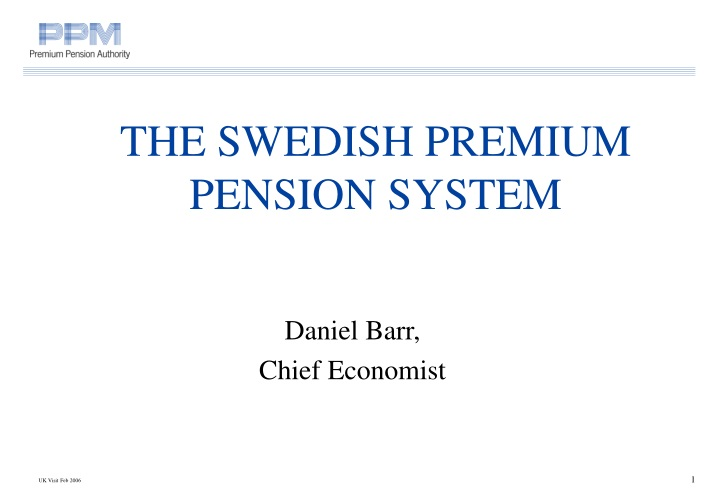 the swed i sh premium pension system n.