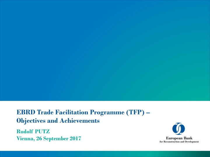 ebrd trade facilitation programme tfp objectives and achievements n.