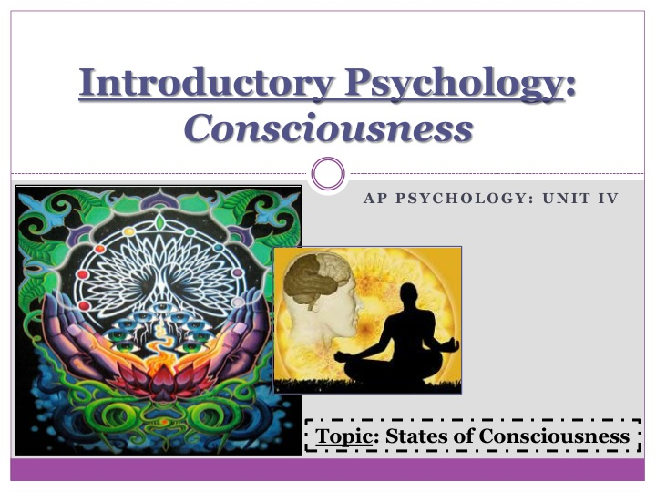 introductory psychology consciousness n.