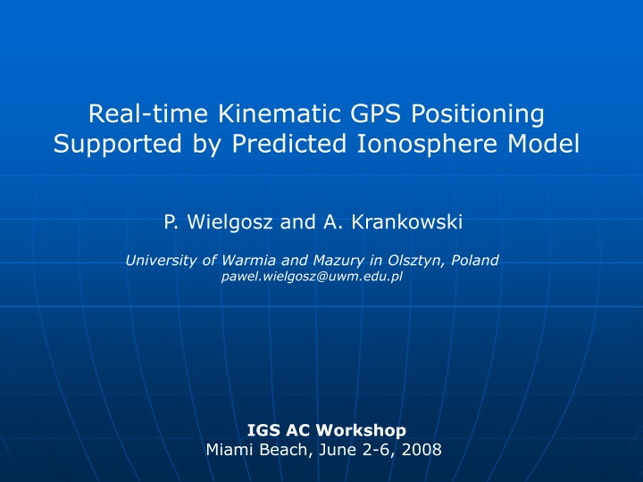real time kinematic gps positioning supported n.