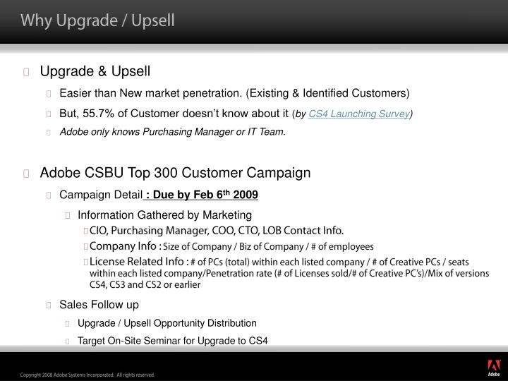 why upgrade upsell n.