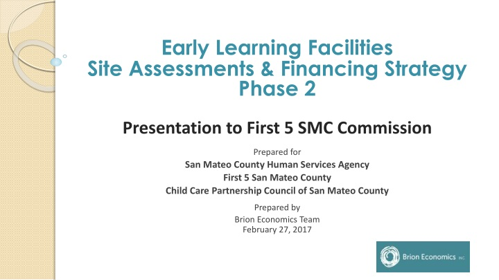 early learning facilities site assessments n.