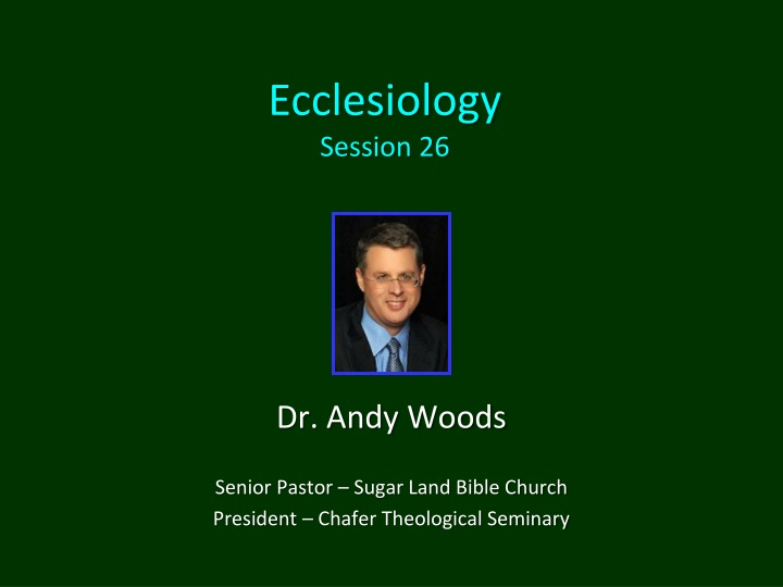 ecclesiology session 26 n.