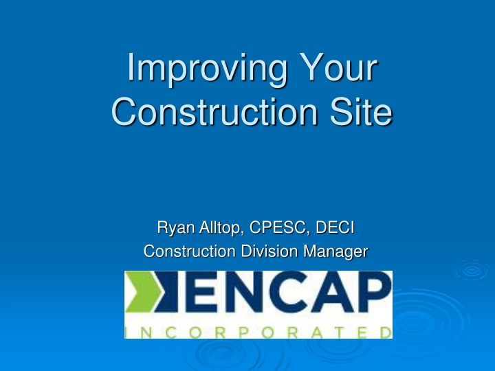 improving your construction site n.
