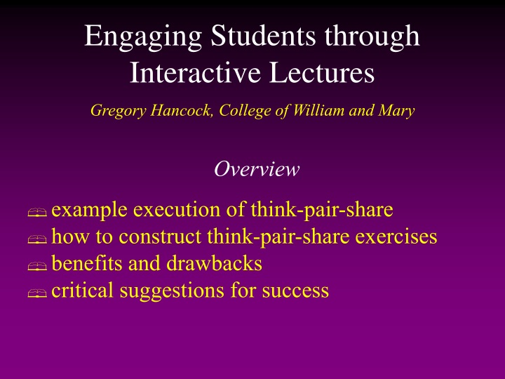 engaging students through interactive lectures n.