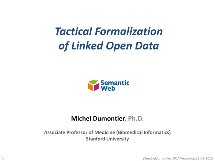 tactical formalization of linked open data n.