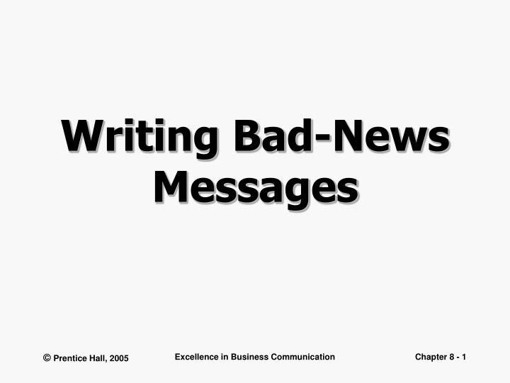 writing bad news messages n.
