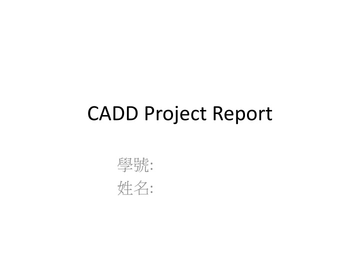 cadd project report n.