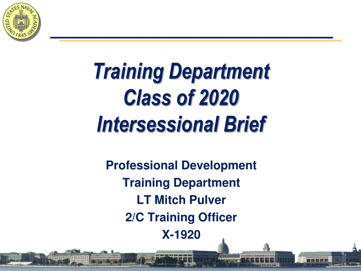 training department class of 2020 intersessional brief n.