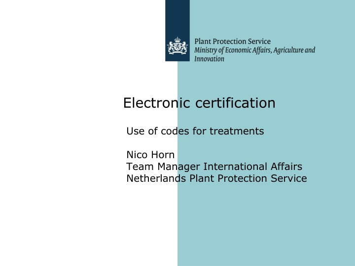 electronic certification n.