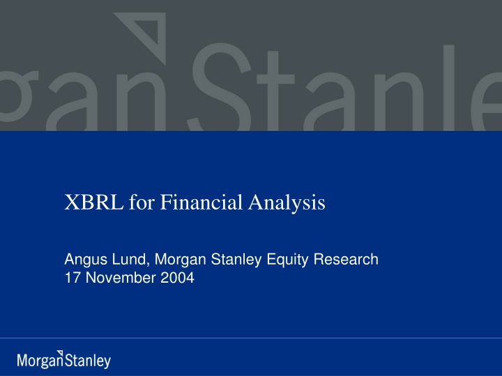 xbrl for financial analysis n.
