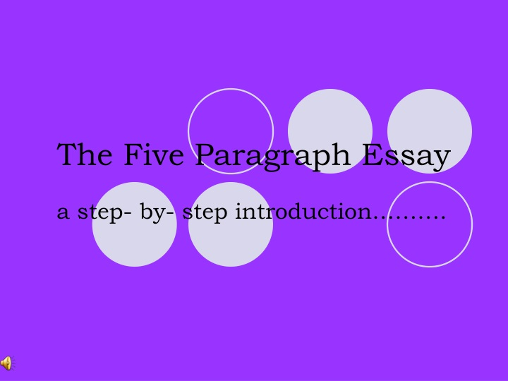 the five paragraph essay n.