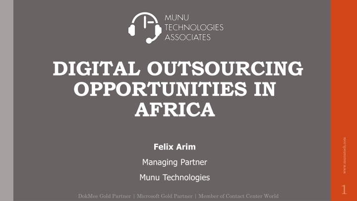 digital outsourcing opportunities in africa n.