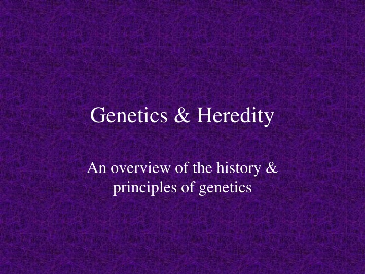 genetics heredity n.