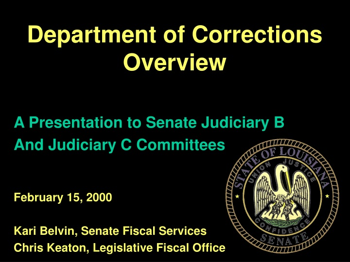 department of corrections overview n.