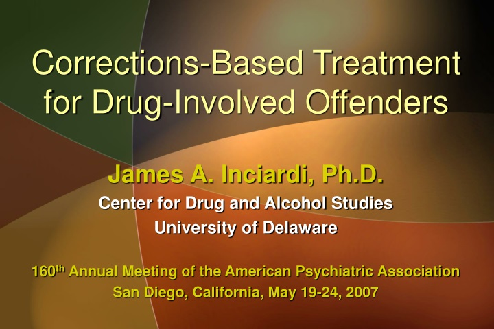 corrections based treatment for drug involved offenders n.