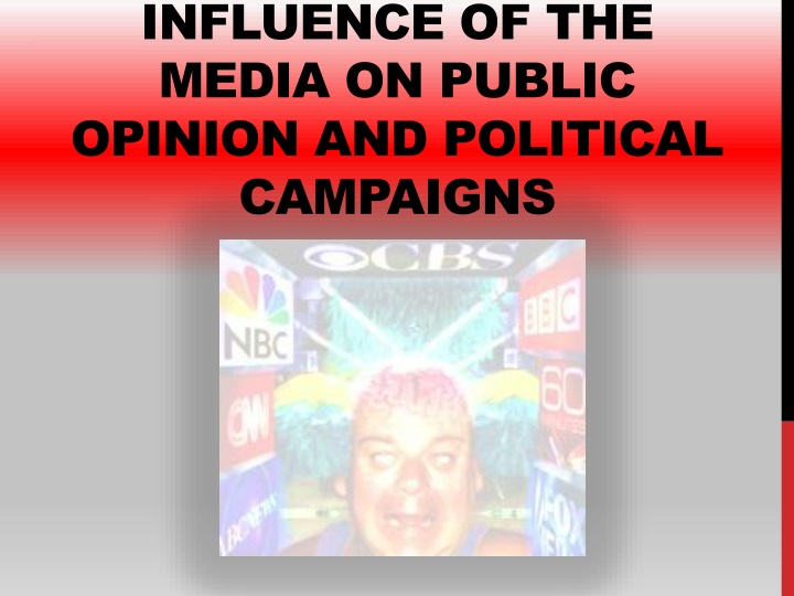 influence of the media on public opinion and political campaigns n.