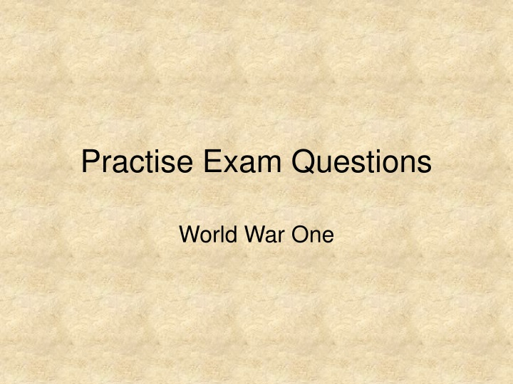 practise exam questions n.