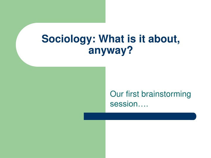 sociology what is it about anyway n.