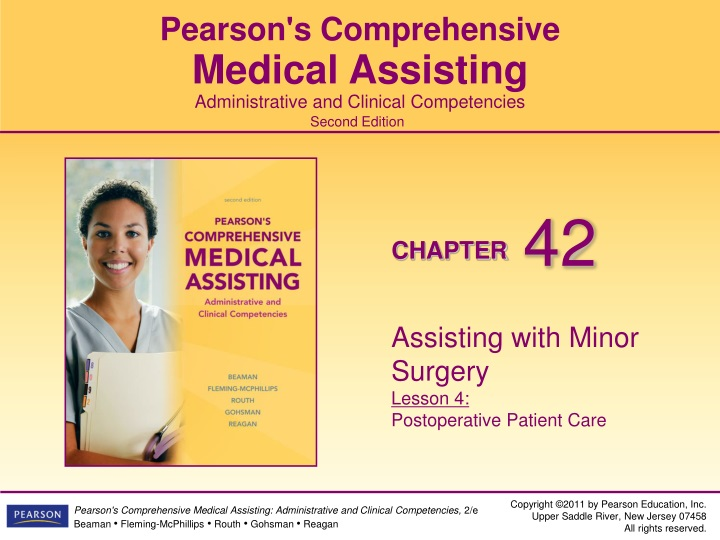 assisting with minor surgery lesson 4 postoperative patient care n.