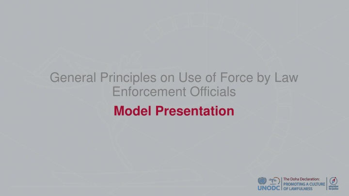 general principles on use of force by law enforcement officials n.