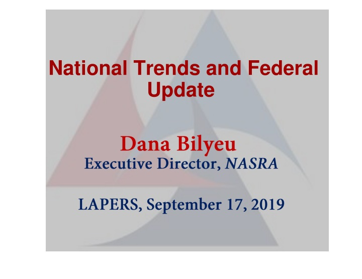 national trends and federal update n.