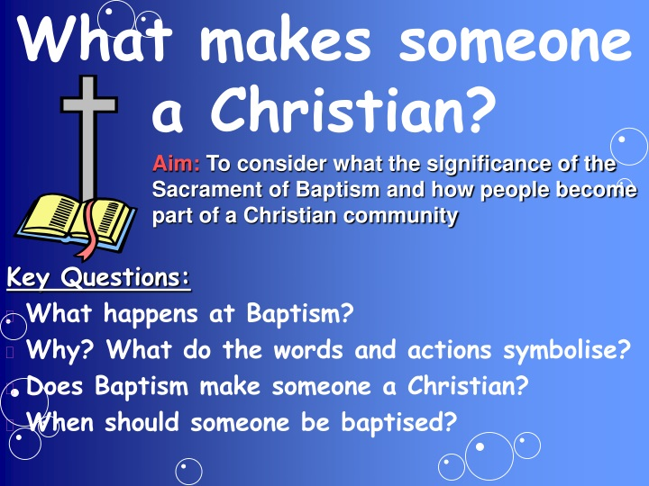 what makes someone a christian n.