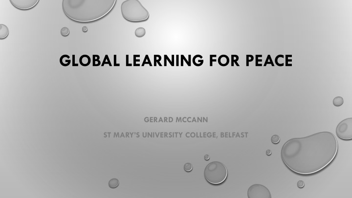 global learning for peace n.