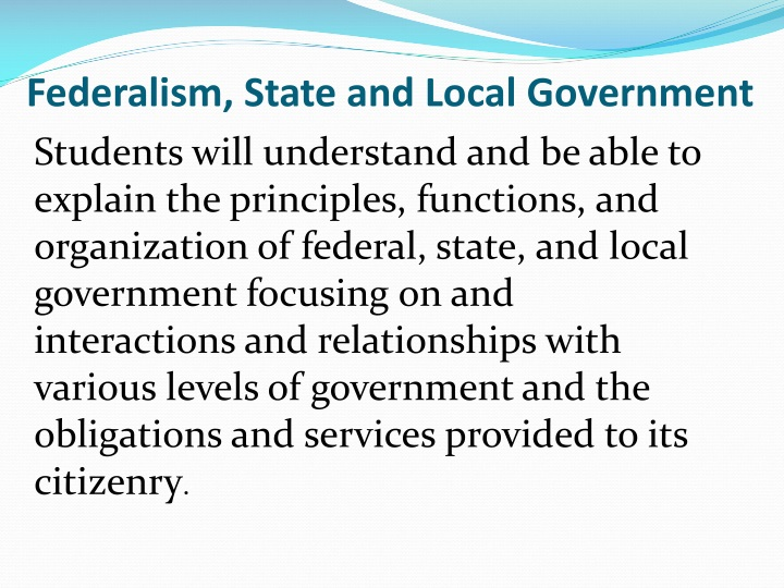 federalism state and local government n.