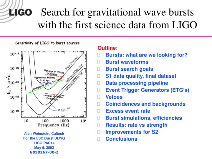 search for gravitational wave bursts with the first science data from ligo n.
