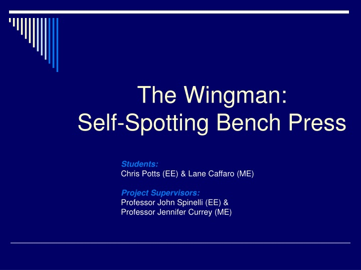 the wingman self spotting bench press n.