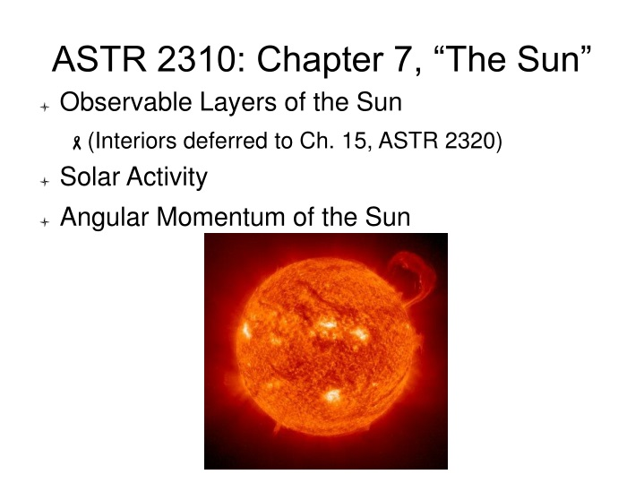 astr 2310 chapter 7 the sun n.