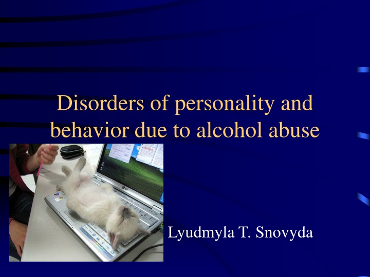 disorders of personality and behavior due to alcohol abuse n.