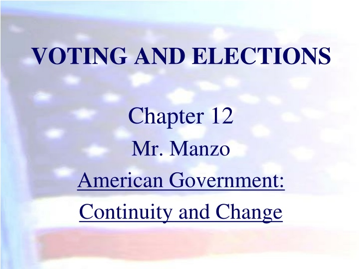 voting and elections n.