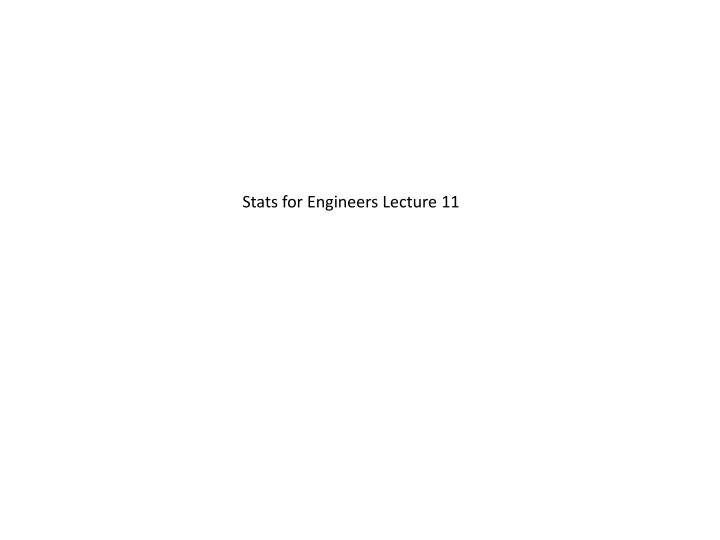 stats for engineers lecture 11 n.