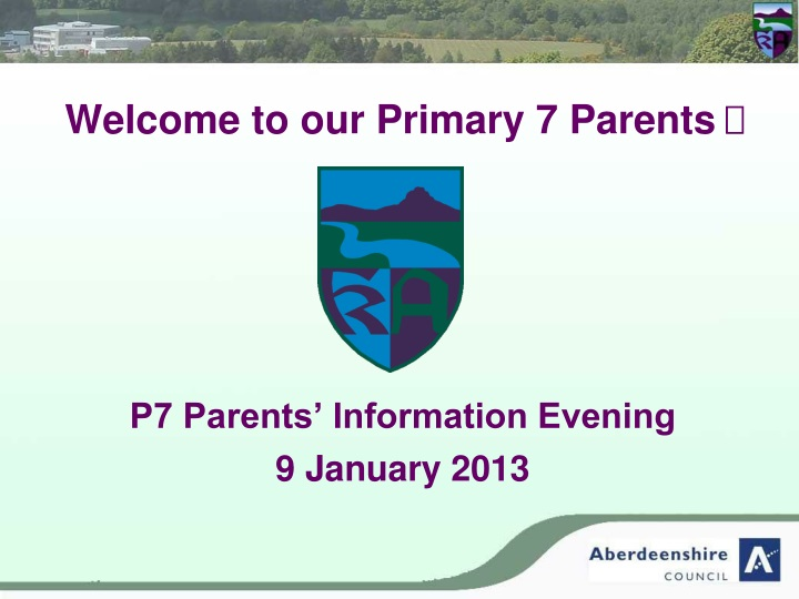 welcome to our primary 7 parents n.