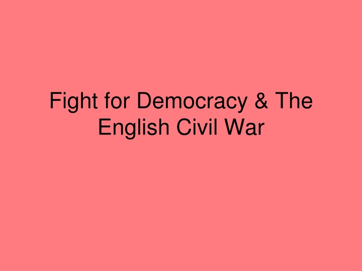 fight for democracy the english civil war n.