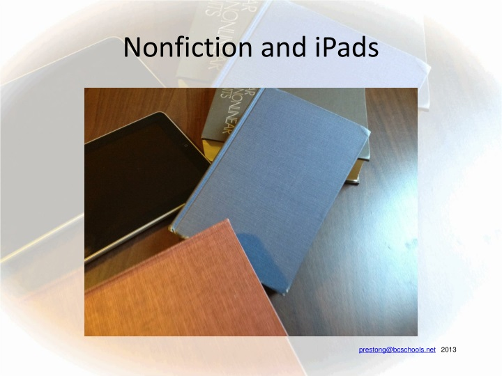 nonfiction and ipads n.