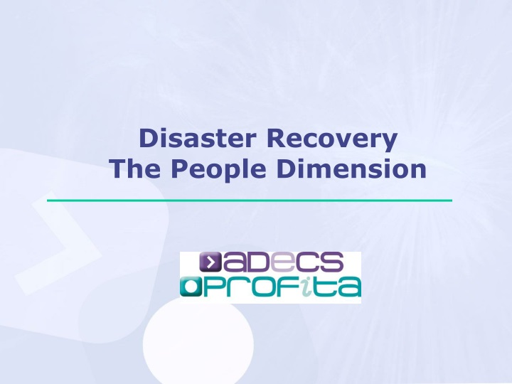 disaster recovery the people dimension n.